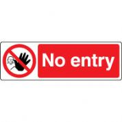 Prohibition safety sign - No Entry 069